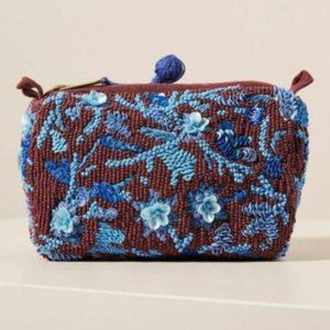 Shanna Embellished Bead Boho Floral Peasant Pouch